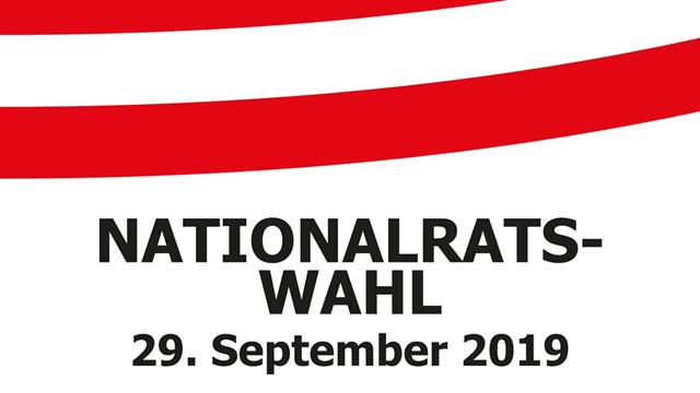 Nationalratswahl am 29. September 2019