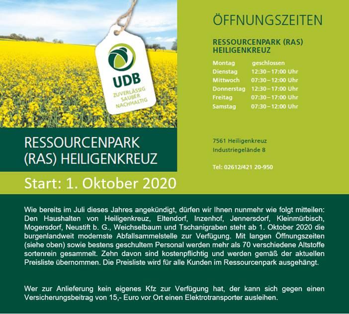 Info zum Ressourcenpark Heiligenkreuz